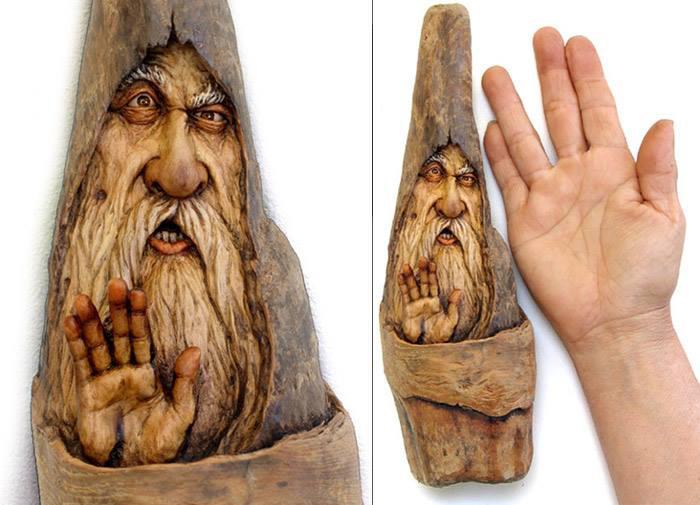 Нэнси Татл превращает коряги и обломки деревьев в сказочные деревянные скульптуры, фото № 50