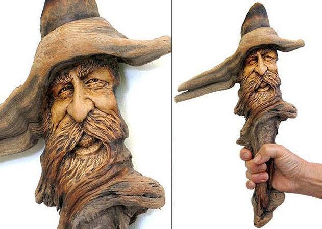 Нэнси Татл превращает коряги и обломки деревьев в сказочные деревянные скульптуры, фото № 19