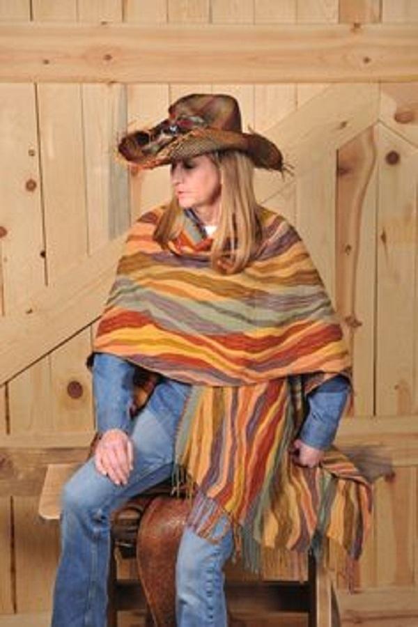 Простые способы ношения палантина в холодное время года, фото № 3