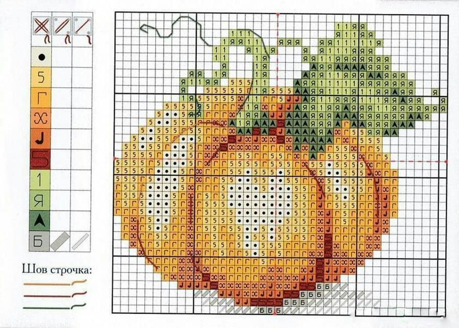 Влюбленные в осень: 50+ схем для вышивки крестиком, фото № 38
