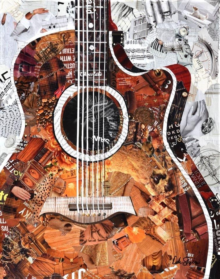 Дебора Шапиро создает коллажи из рваных кусочков бумаги и глянцевых журналов, фото № 39