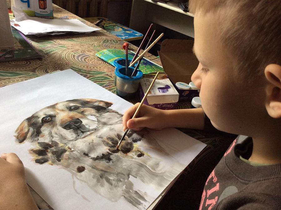 9-летний художник спасает животных из приюта: удивительный проект «Добрая кисть», фото № 9