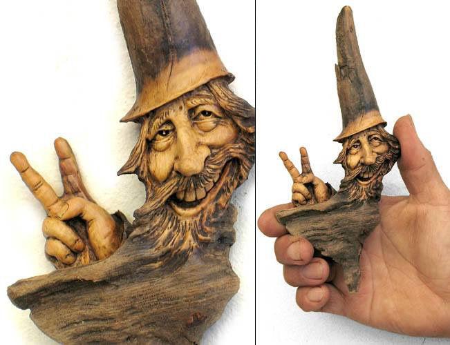 Нэнси Татл превращает коряги и обломки деревьев в сказочные деревянные скульптуры, фото № 3