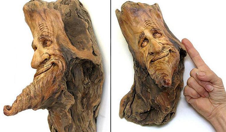 Нэнси Татл превращает коряги и обломки деревьев в сказочные деревянные скульптуры, фото № 10