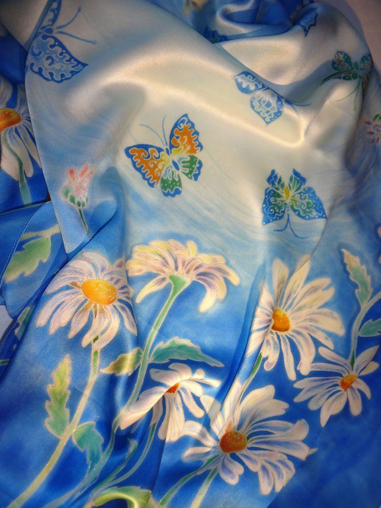 батик платок, батик выгодная цена, батик распродажа, батик акция, шелковый платок акция, шелковый платок распродажа, шарфик распродажа, бабочки, ромашки, цветы, батик ромашки, батик цветы, батик бабочки, подарок девушке, подарок женщине