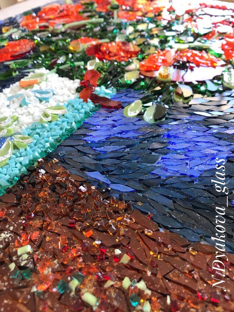 картина с цветами, декор дома