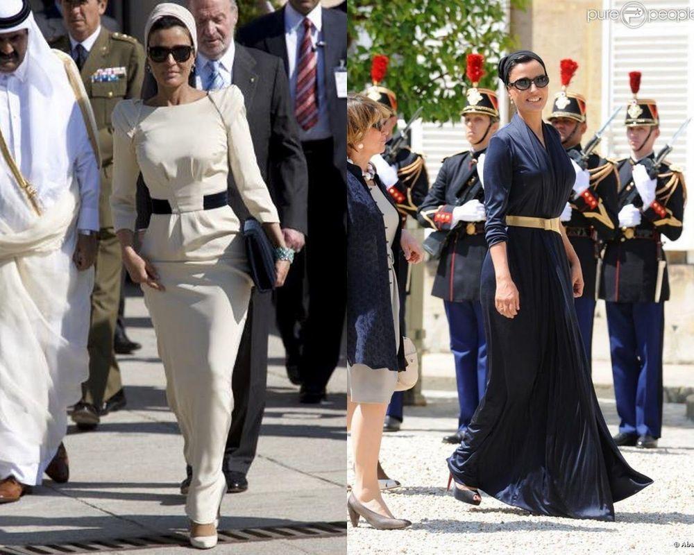 Самая модная женщина Востока. Так называют Шейху Мозу. Ее наряды и утонченный стиль, фото № 6