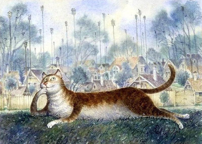 постеры с котами румянцева сапога пара