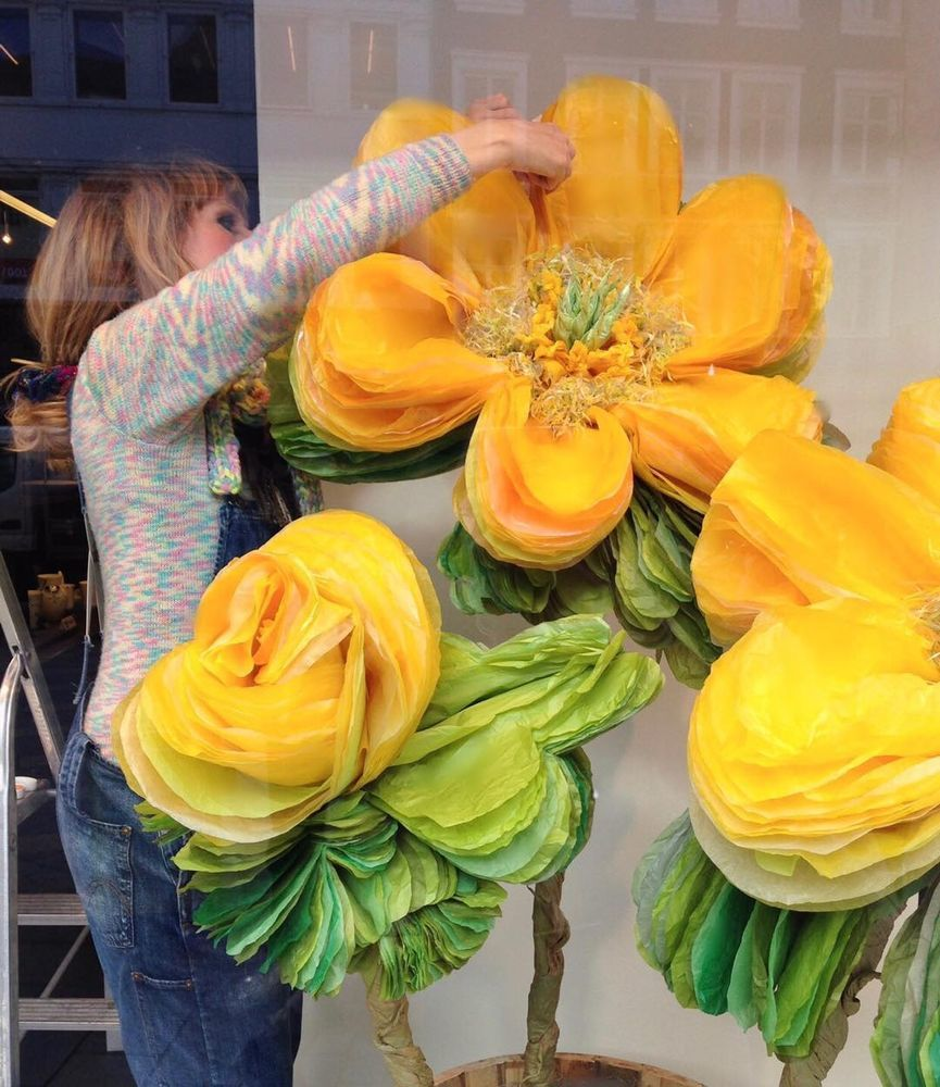 Потрясающие бумажные цветы датской художницы arianne riksen-cott ansen, фото № 30