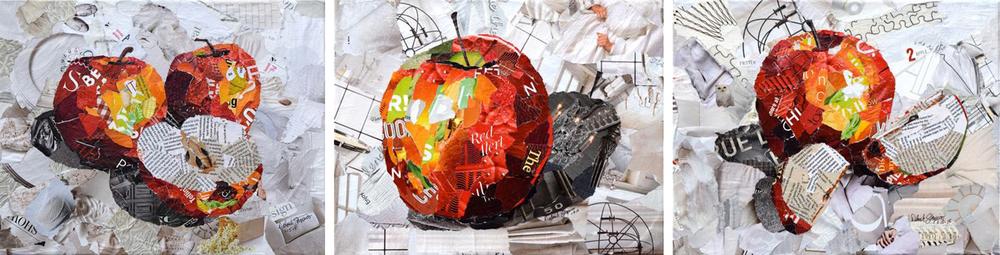 Дебора Шапиро создает коллажи из рваных кусочков бумаги и глянцевых журналов, фото № 43