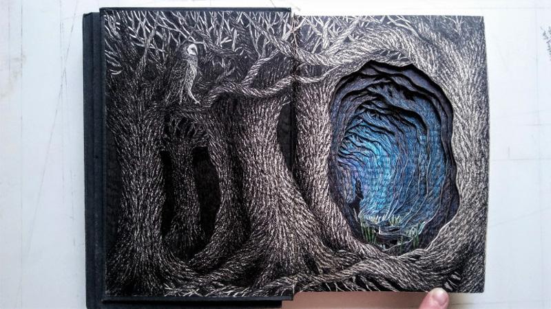 Isobelle Ouzman создаёт удивительные многослойные композиции, вырезанные из старых книг, фото № 20
