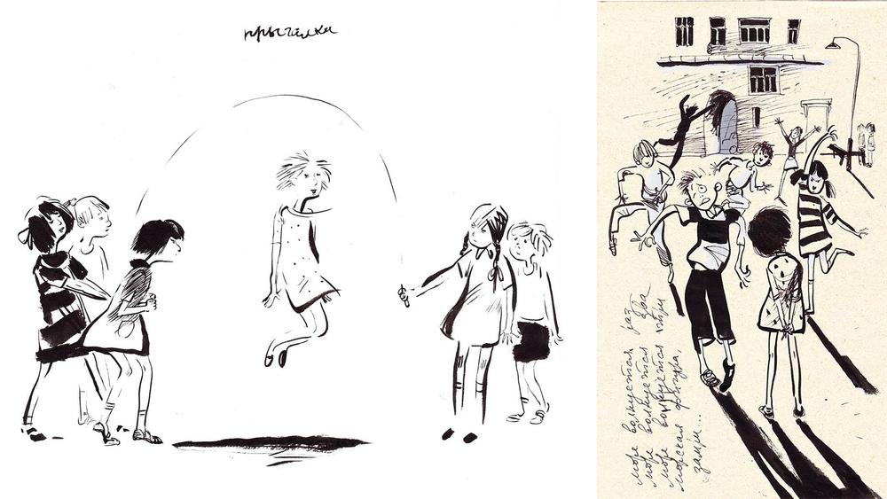 Назад в прошлое. Образ детства в рисунках Евгении Двоскиной, фото № 38