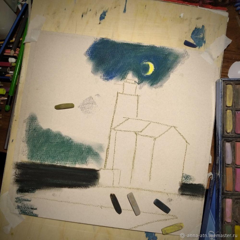 Мастер-класс картина  «Маяк»  сухой пастелью, фото № 2