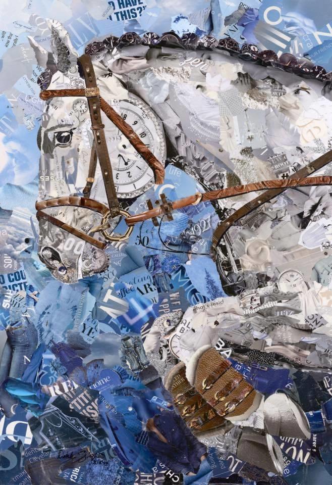Дебора Шапиро создает коллажи из рваных кусочков бумаги и глянцевых журналов, фото № 12