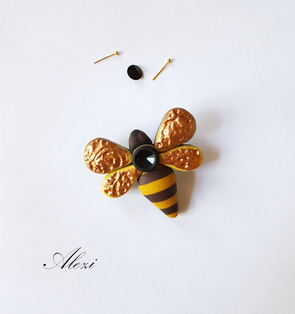 Creating Bee Brooch from Polymer Clay, фото № 12