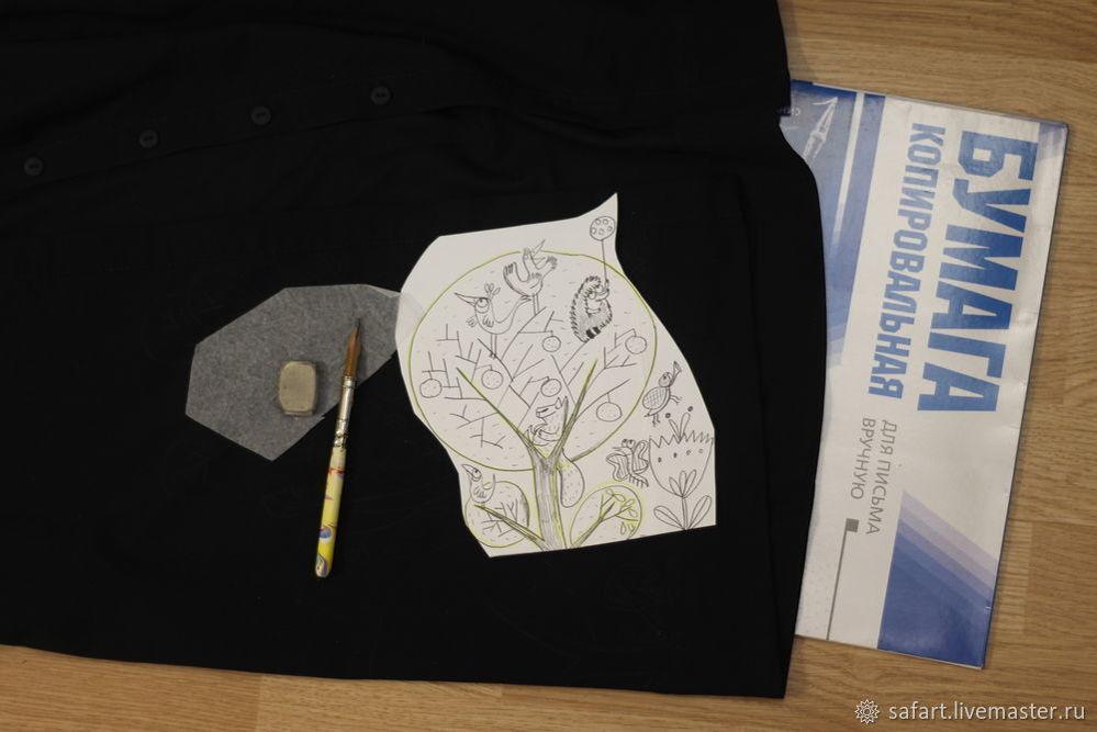 Переделываем скучное платье с помощью росписи, фото № 3