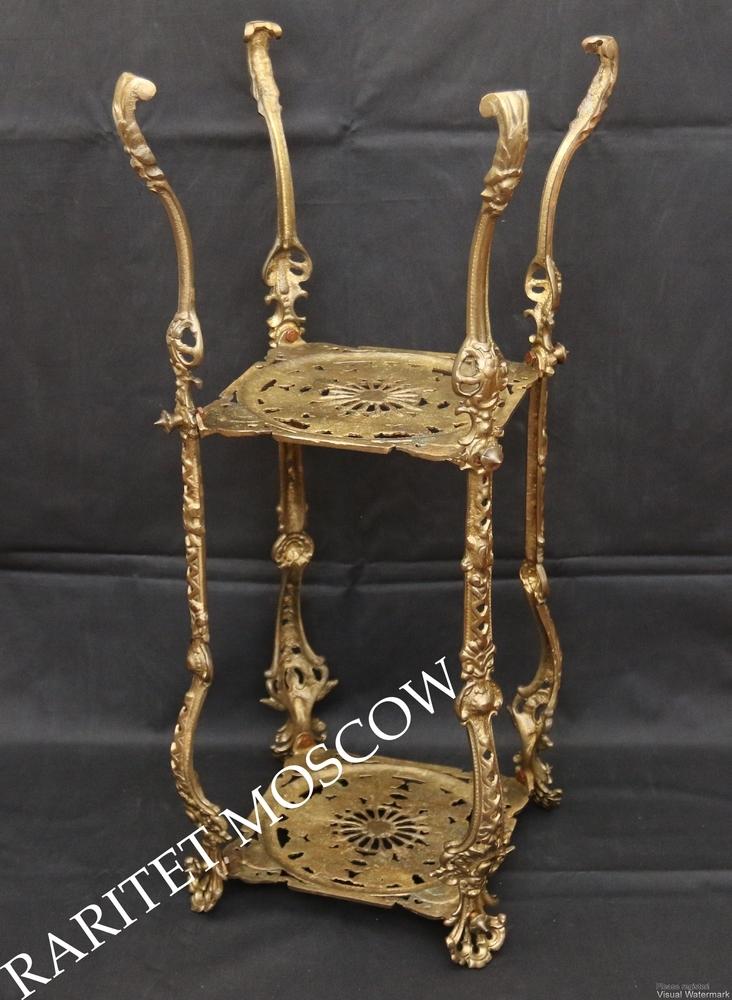 Этажерка ангел подставка жардиньерка стол бронза 69см 2, фото № 17