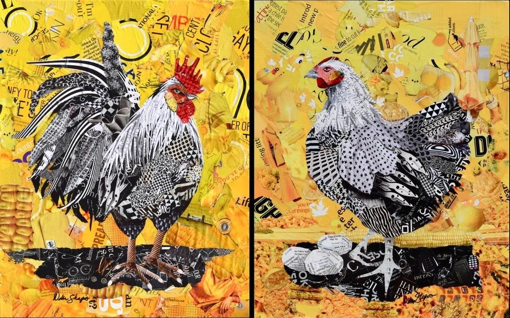 Дебора Шапиро создает коллажи из рваных кусочков бумаги и глянцевых журналов, фото № 23