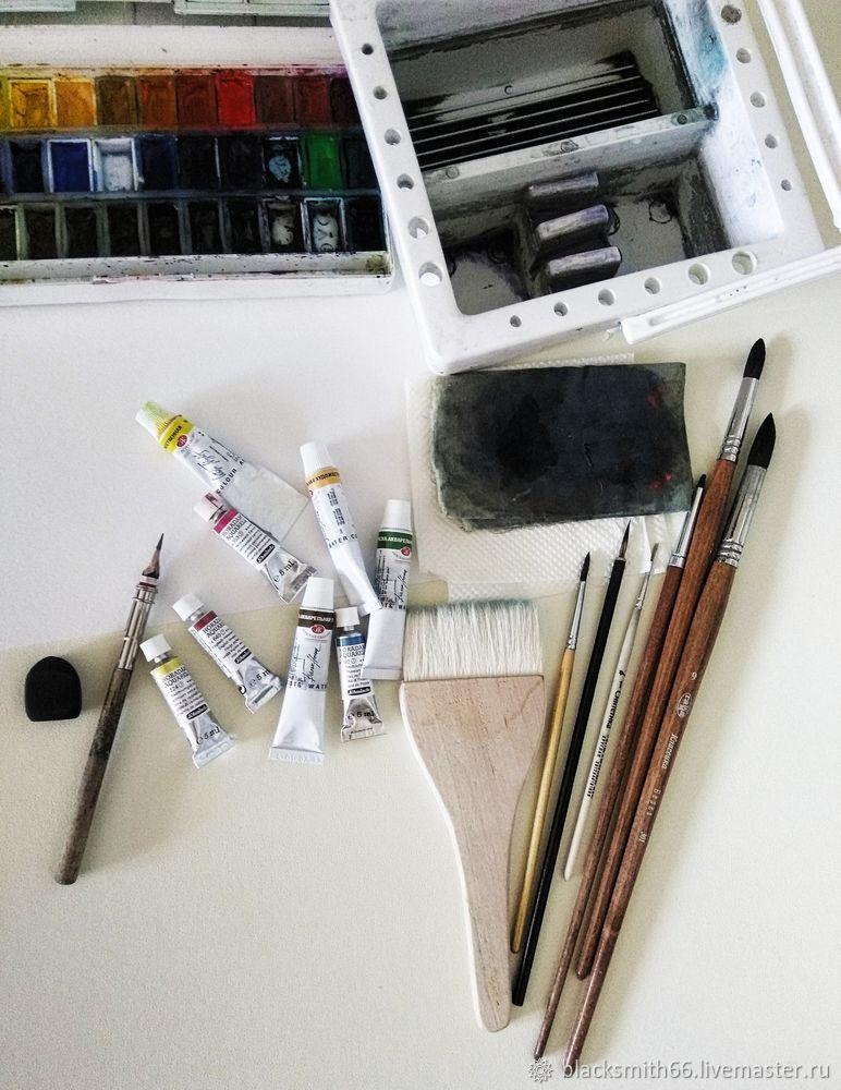 Рисуем синицу на цветущей ветке акварелью, фото № 1