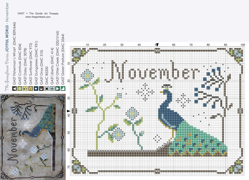 In Love With Autumn: 50+ Cross Stitch Patterns, фото № 47