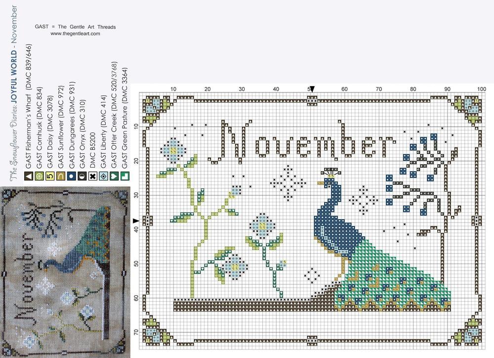 Влюбленные в осень: 50+ схем для вышивки крестиком, фото № 47