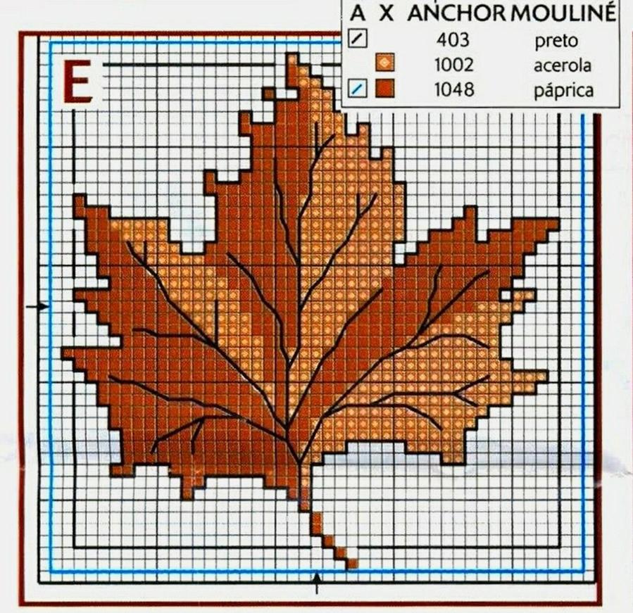 Влюбленные в осень: 50+ схем для вышивки крестиком, фото № 37