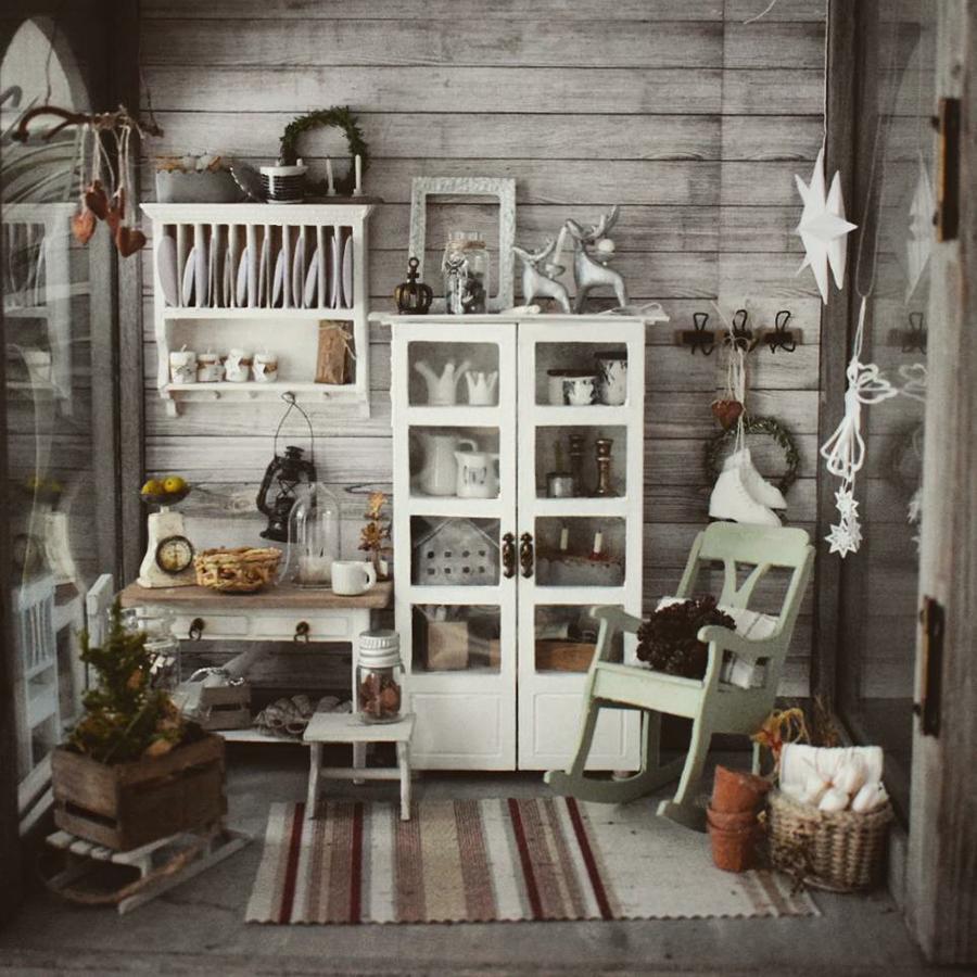 Финская художница создает дома мечты... в миниатюре, фото № 1