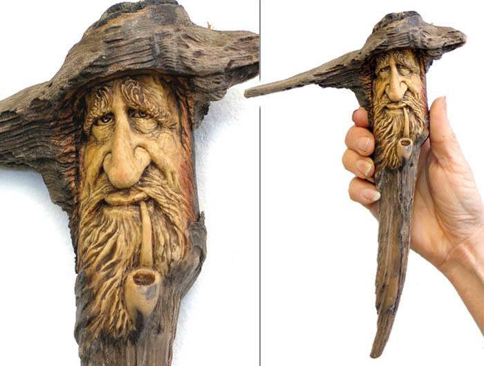 Нэнси Татл превращает коряги и обломки деревьев в сказочные деревянные скульптуры, фото № 4