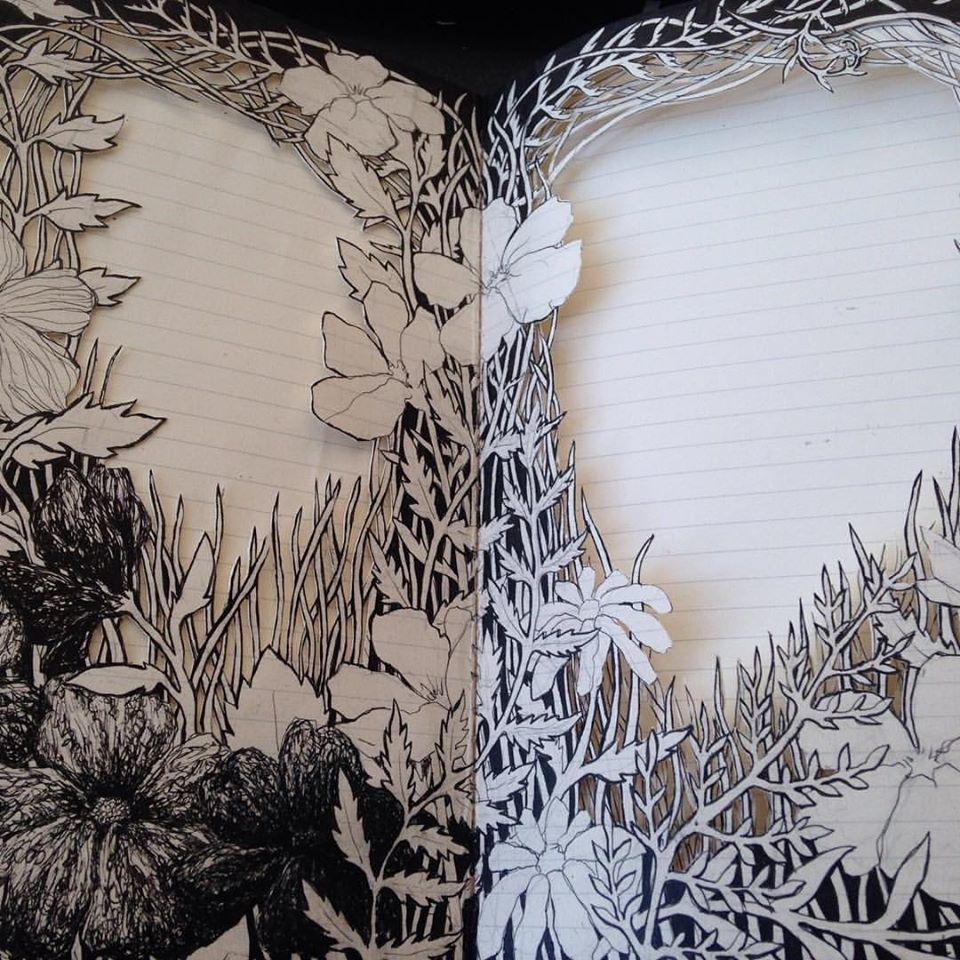 Isobelle Ouzman создаёт удивительные многослойные композиции, вырезанные из старых книг, фото № 45