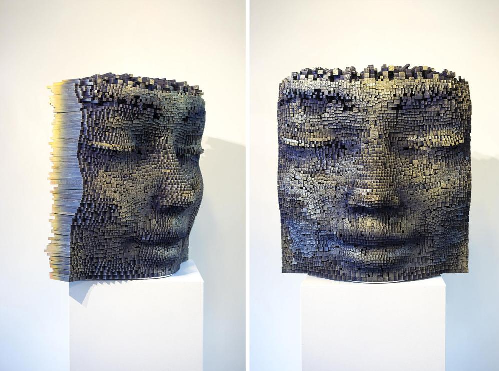 Необычные деревянные скульптуры от Джил Брювель, фото № 14