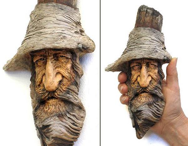 Нэнси Татл превращает коряги и обломки деревьев в сказочные деревянные скульптуры, фото № 27