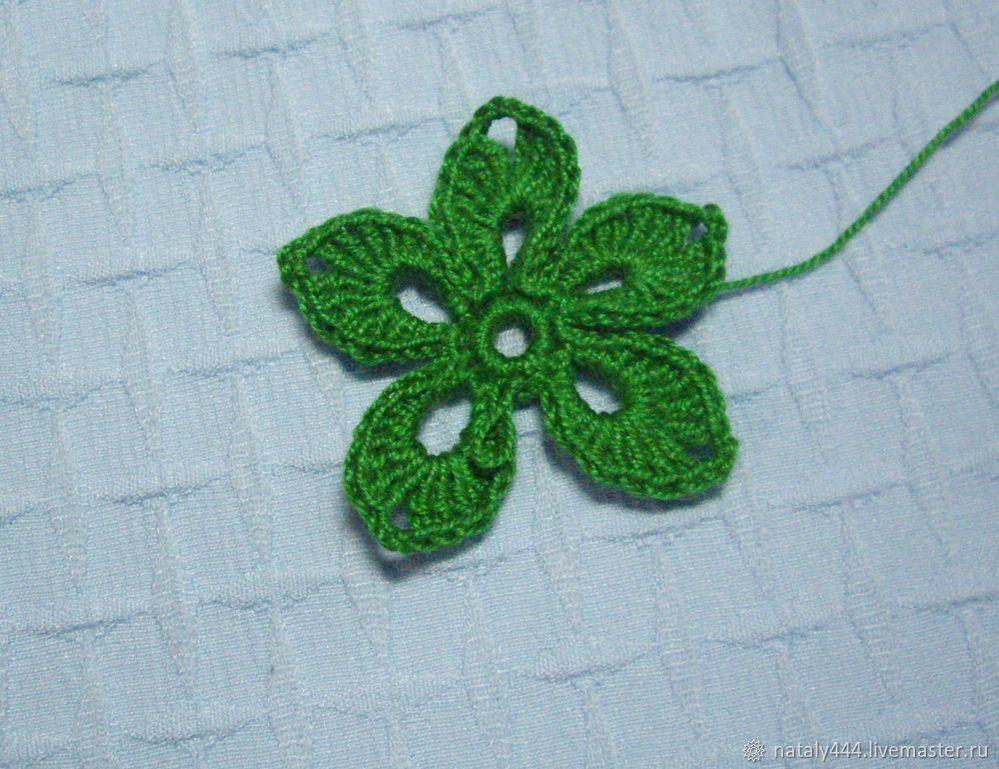Вяжем цветок для ирландского кружева, фото № 12