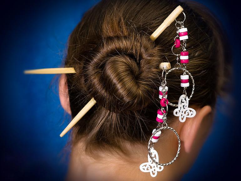 картинки японская прическа с палочками пошива большинства моделей