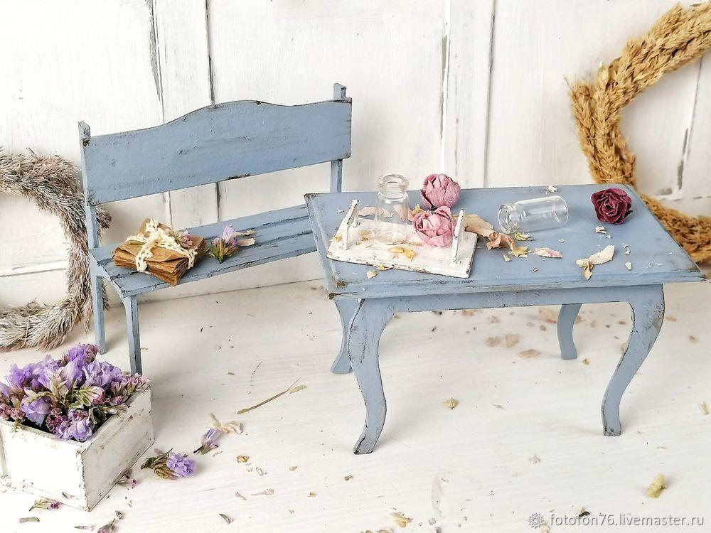 Делаем мебель для куклы из картона. Декор для фотографий, фото № 6