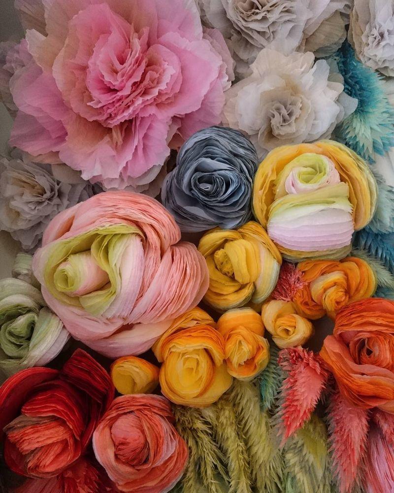 Потрясающие бумажные цветы датской художницы arianne riksen-cott ansen, фото № 7