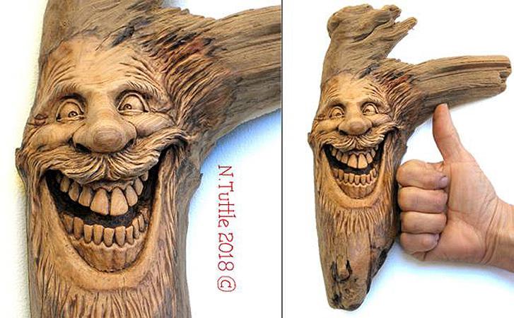 Нэнси Татл превращает коряги и обломки деревьев в сказочные деревянные скульптуры, фото № 49