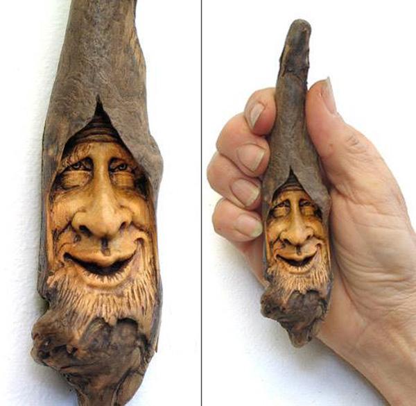 Нэнси Татл превращает коряги и обломки деревьев в сказочные деревянные скульптуры, фото № 24