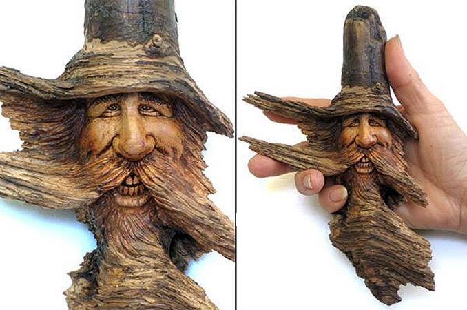 Нэнси Татл превращает коряги и обломки деревьев в сказочные деревянные скульптуры, фото № 47
