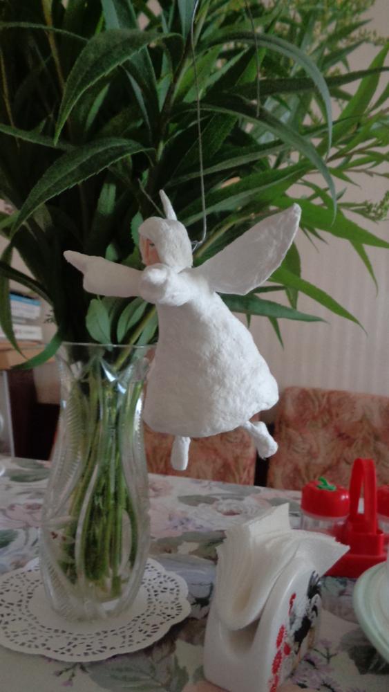 Как создать Ангела-хранителя полетов из ваты, фото № 14