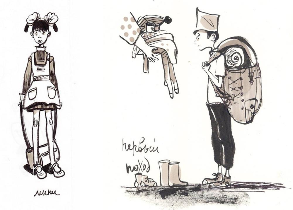 Назад в прошлое. Образ детства в рисунках Евгении Двоскиной, фото № 31
