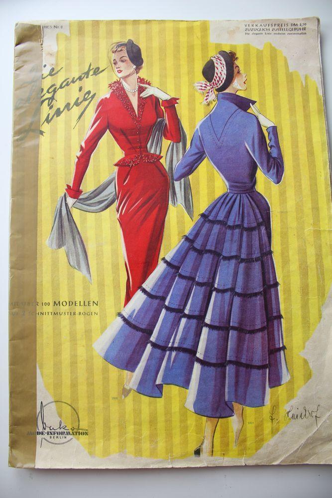 Элегантные линии- старый журнал мод -1953- Редкость, фото № 1