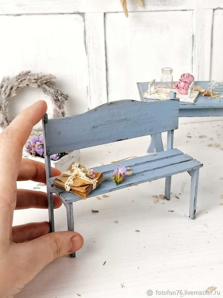 Делаем мебель для куклы из картона. Декор для фотографий, фото № 4