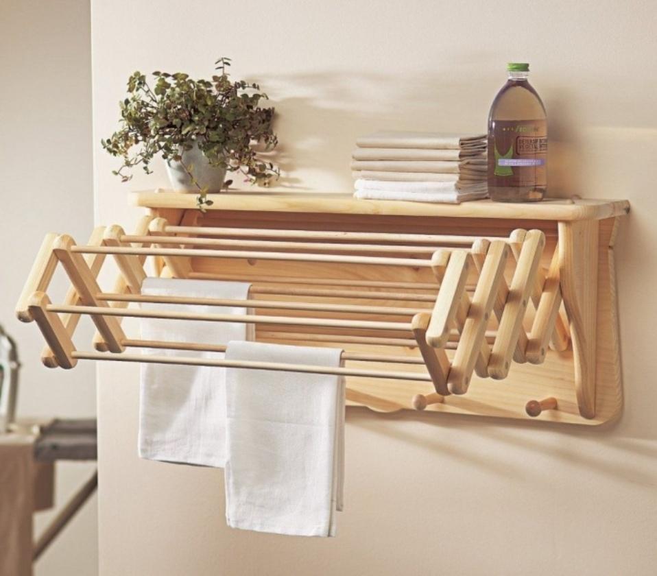 Где сушить белье в квартире красиво и удобно? (33 обычных и необычных решений), фото № 17