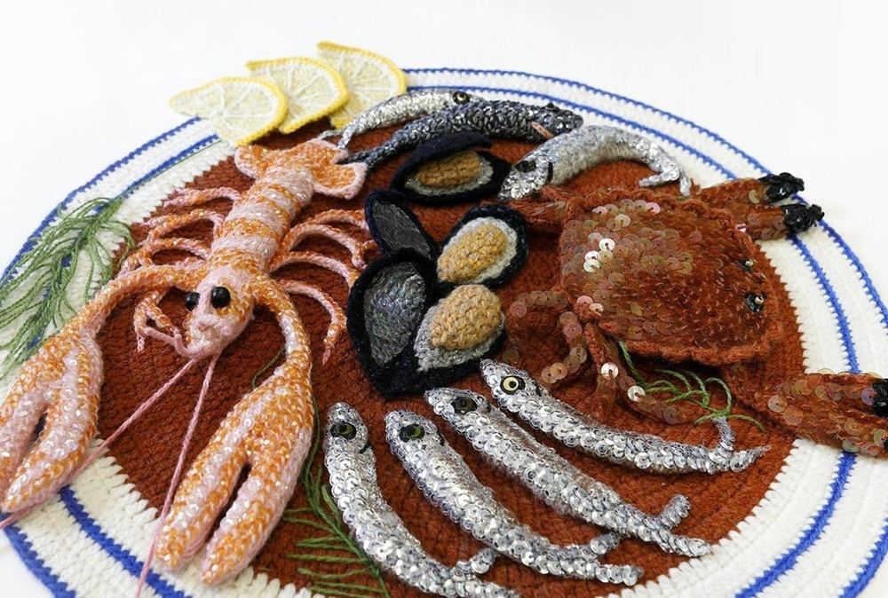 Adorable Sardines & Baguettes In Love: Knitted Food by Kate Jenkins, фото № 3