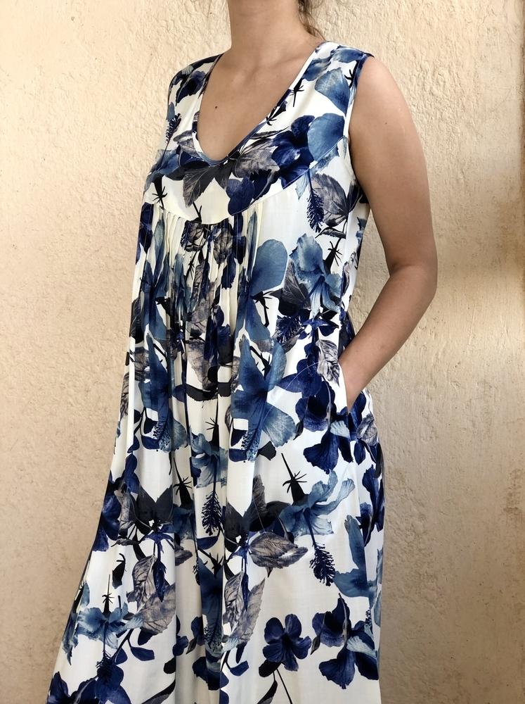 Новое платье с синими цветами, фото № 21