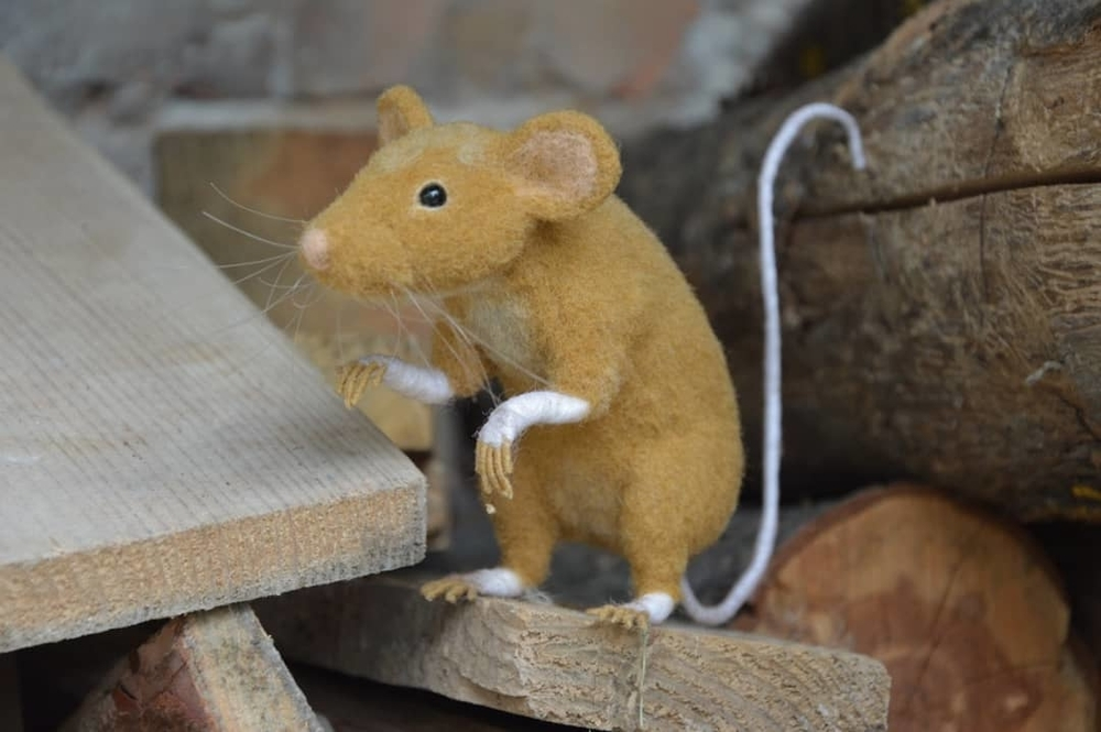 Life Of Outstanding Mice: Felted Rodents Go To Stores, Play Sports & Take Photos, фото № 2