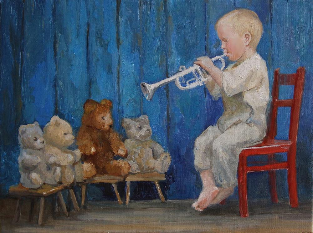 Пишем картину «Юный музыкант». Часть 2, фото № 1