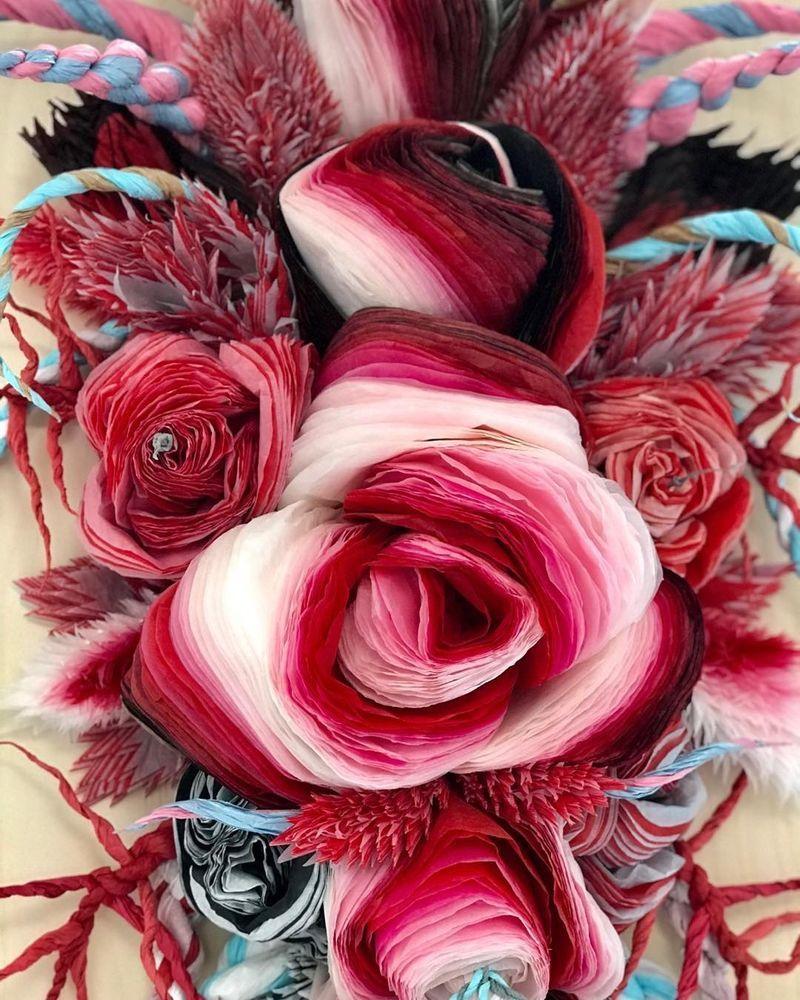 Потрясающие бумажные цветы датской художницы arianne riksen-cott ansen, фото № 14