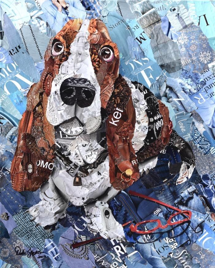 Дебора Шапиро создает коллажи из рваных кусочков бумаги и глянцевых журналов, фото № 4