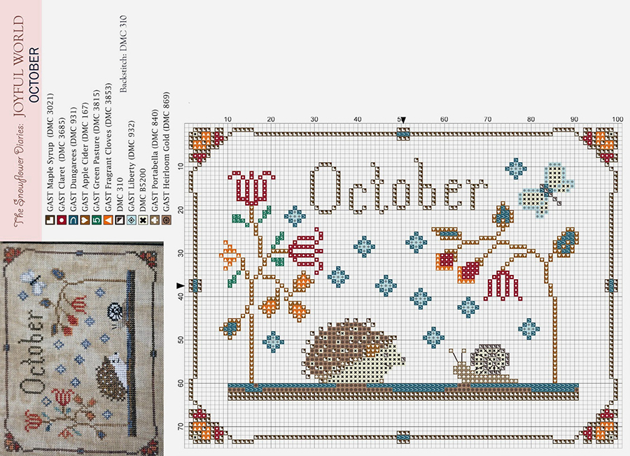 Влюбленные в осень: 50+ схем для вышивки крестиком, фото № 33